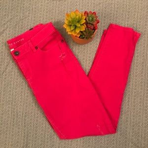 LC Lauren Conrad Hot Pink Straight Leg Jeans